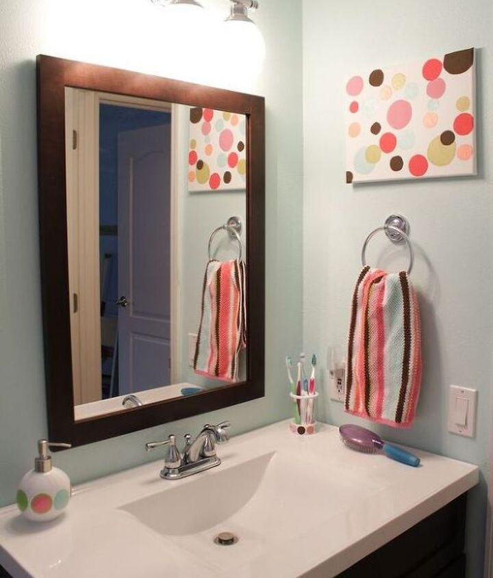my tween girls bathroom update, bathroom ideas, home decor
