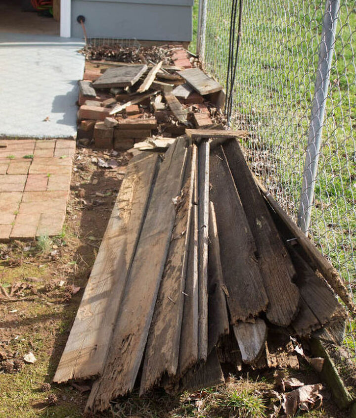 Stack of old fence boards.