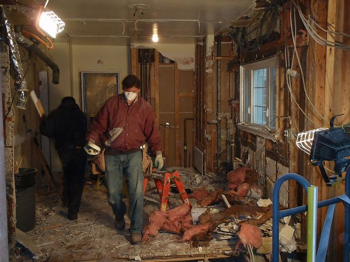 During the kitchen remodel.