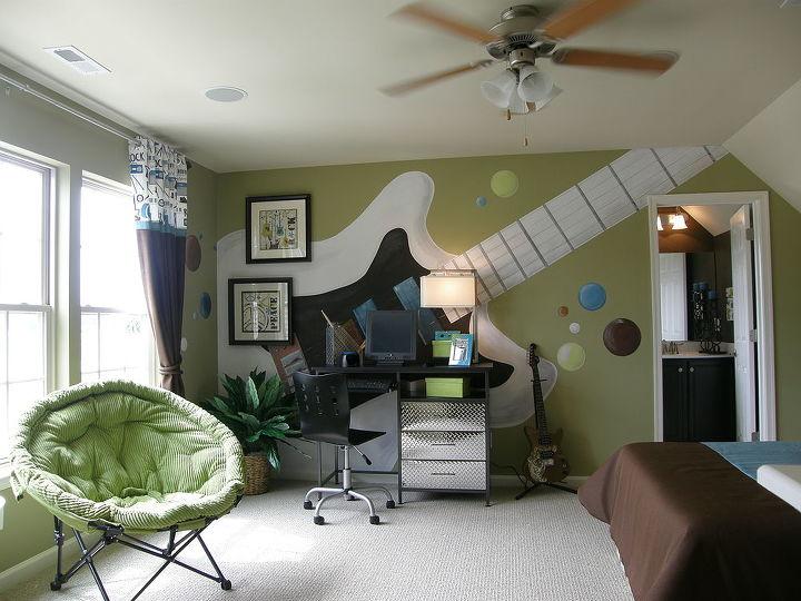 rock n roll teen room, bedroom ideas, home decor, painting