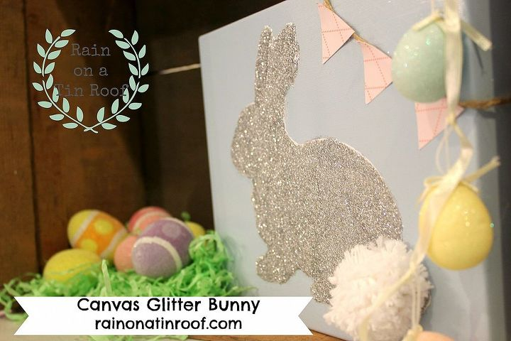easter decorations gt glitter bunny, crafts, easter decorations, seasonal holiday decor