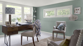 q what is the best color to paint a basement bedroom, basement ideas, bedroom ideas, painting, Stratton Blue HC 142