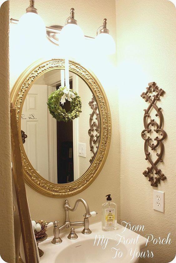 half bath ceiling decor, bathroom ideas, home decor, painting
