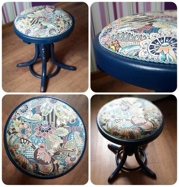 piano chair, painted furniture