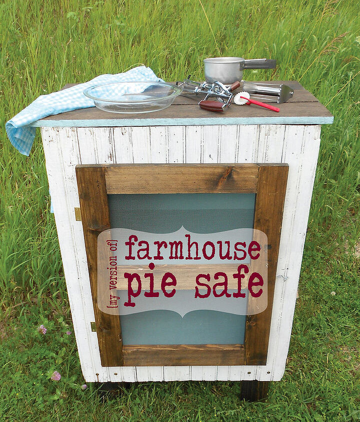 if you can t buy a pie safe make one, diy, painted furniture, repurposing upcycling, woodworking projects