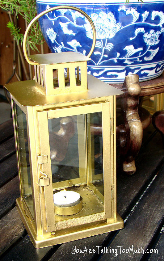 brass lanterns with spray paint, crafts, painting