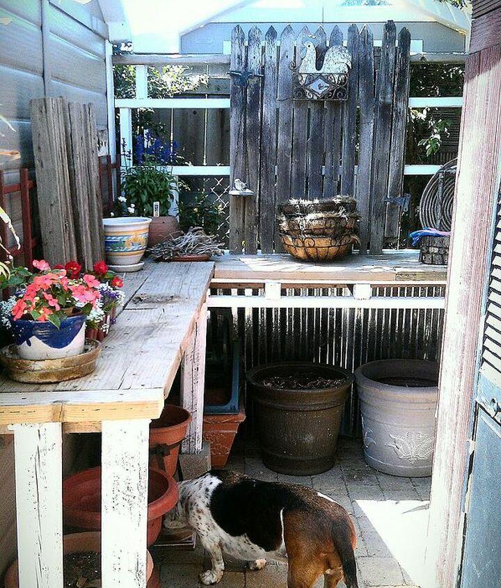 My new potting bench corner.