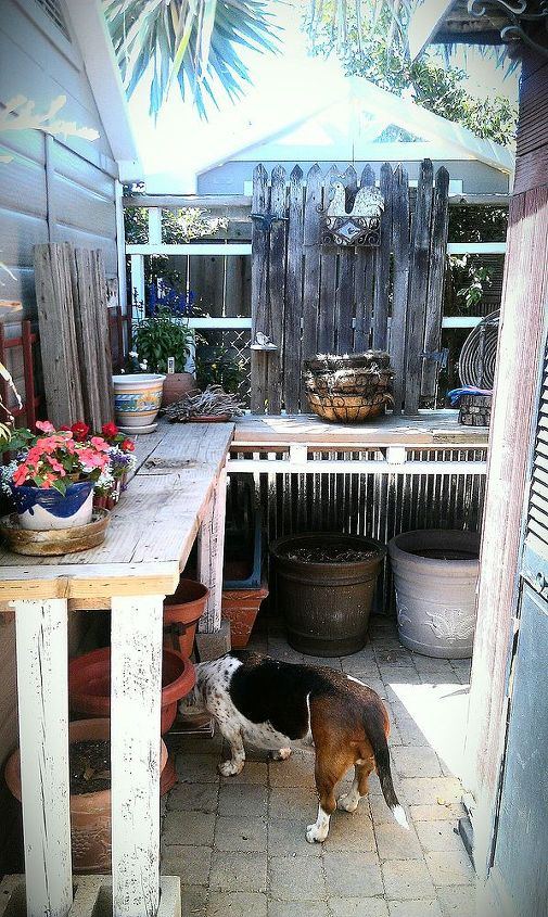 My new potting bench corner.