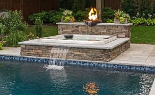 are you thinking of adding a spa to your pool, outdoor living, pool designs, spas, Portable Spas