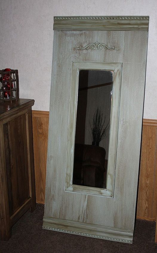 diy stand alone wall mirror, home decor, painted furniture, wall mirror i love it