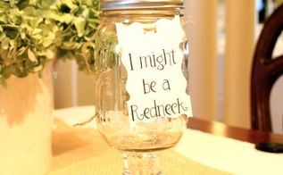 mason jars into red neck glasses, crafts, mason jars, make tag to complete