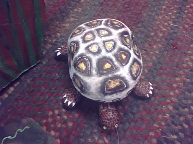 Got small river rock? Paint turtles and frogs, fun project