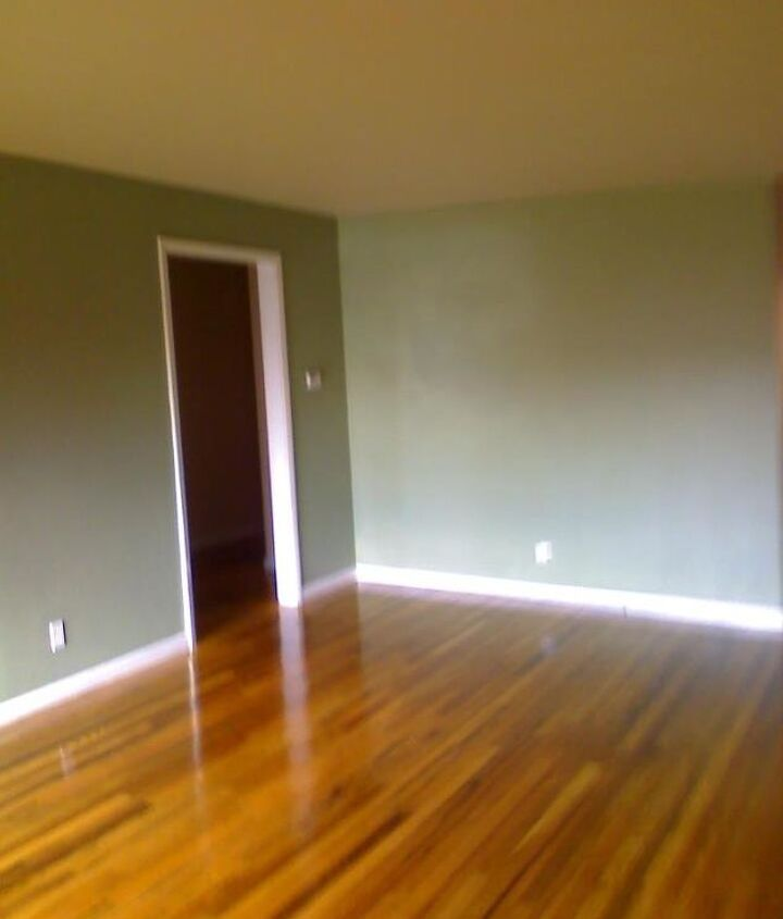 """fresh coat of paint to go with the """"new"""" floors."""