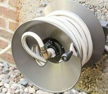 eley rapid reel hose reel, curb appeal, gardening, lawn care, The Rapid Reel holds 150 feet of hose which is perfect for us as we always have it stretched across the yard to water chickens and ducks
