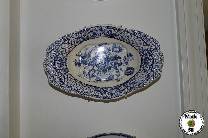 Mason's Stratford English flow blue dish makes a great wall display.