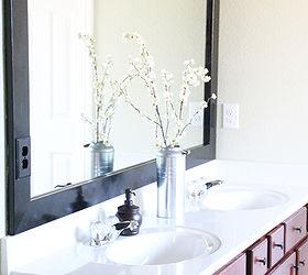 Diy Cheap And Easy Bathroom Mirror Frame, Bathroom Ideas, Home Decor, DIY  Bathroom