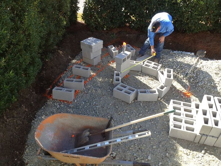 q dec 14th patio firepit update as many of you know we recently decided to re do our, outdoor living, patio, Measurement day