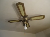Before: Old Kitchen Ceiling Fan.