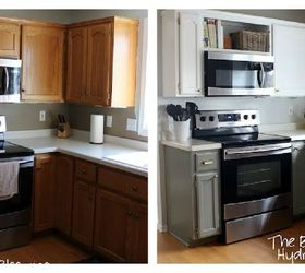 From Oak to Awesome Painted Gray and White Kitchen cabinets Hometalk