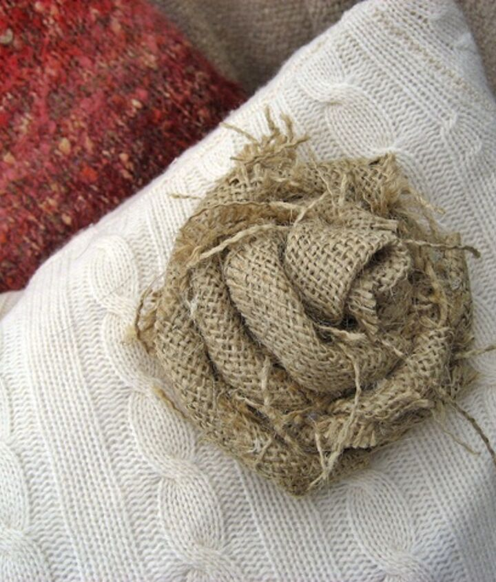 Burlap rose tutorial on my blog Confessions of a Plate Addict