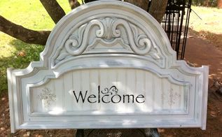 repurposed welcome sign, crafts, repurposing upcycling