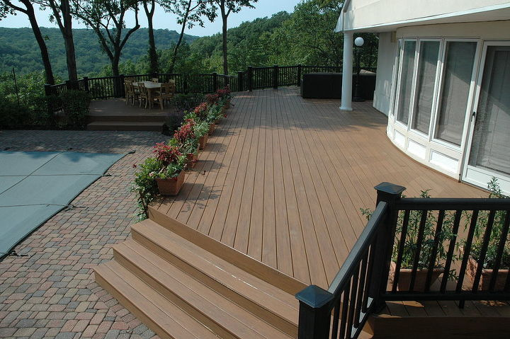 This was the deck for chaise lounges, it was the sunny spot and over looked the pool.