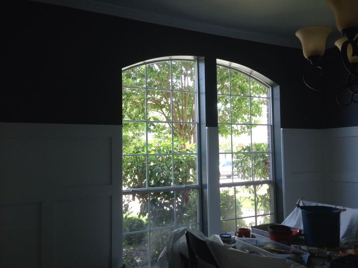 Finished by the window too