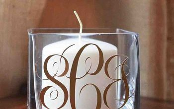 DIY Monogram Candle Holder