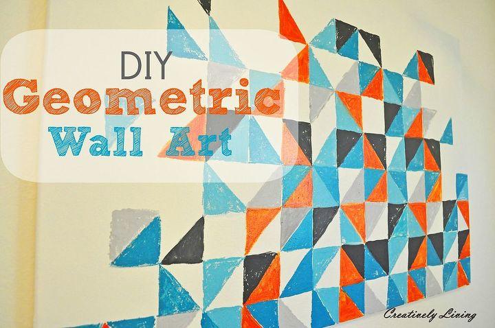 My DIY Geometric Wall Art | Hometalk