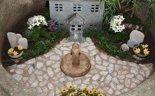 miniature garden or a fairy garden what s the diff, crafts, gardening, Miniature garden in an old cement urn