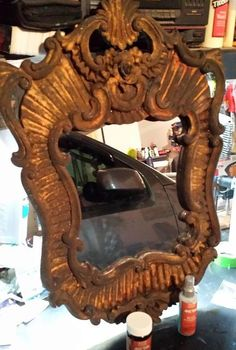 tired mirror makeover, home decor, painted furniture, This is the finished product