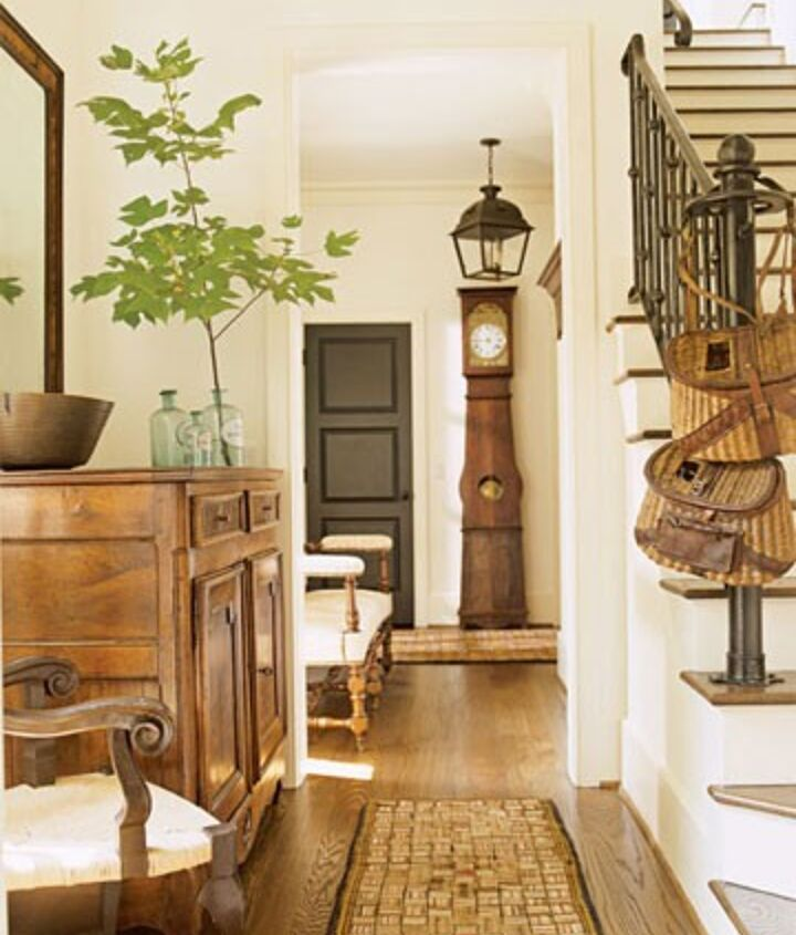 The beautiful inspiration for my foyer.  This photo is from House Beautiful.  I love the warm, golden honey tones which is what I felt my foyer was missing.
