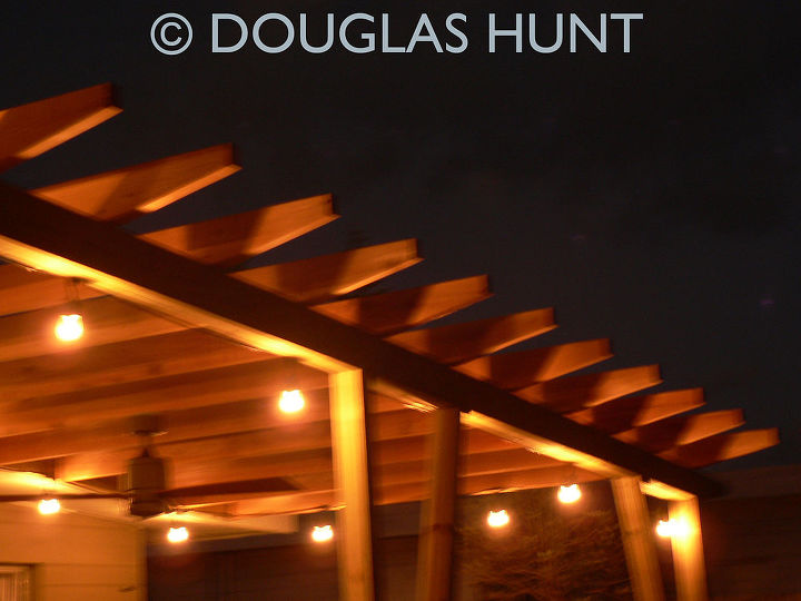 here are some photos of the recently completed pergola in my back yard it has done, electrical, outdoor living, patio