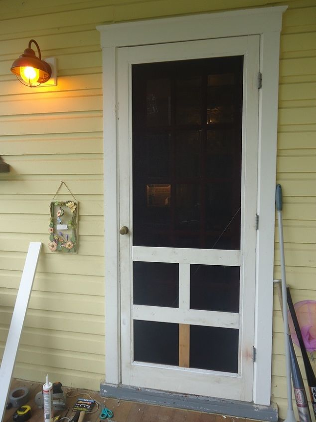 pet screen installed in a wood screen door