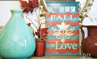 easy chevron fall art, crafts, seasonal holiday decor