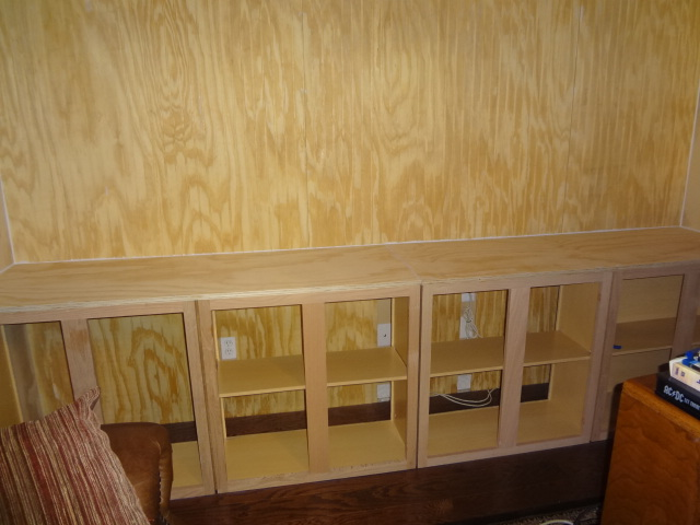 Unfinished cabinets added.