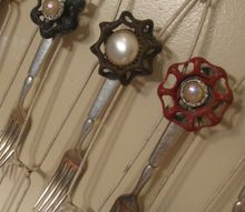 funky fork flowers and more, flowers, gardening, repurposing upcycling, Fork faucet handle vintage earring and super glue