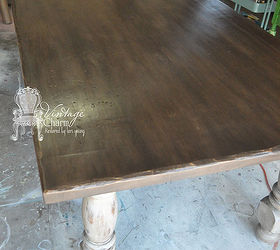 Beau Painted Farmhouse Table, Chalk Paint, Painted Furniture, Aged Farmhouse  Table How To S