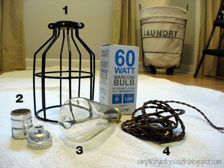 Restoration hardware inspired industrial pendant light hometalk restoration hardware inspired industrial pendant light lighting diy cage light pendant tutorial supplies from aloadofball Choice Image