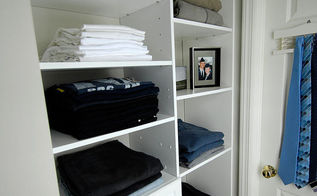 men s master closet renovation, closet, shelving ideas, Here s a view from the back of the closet