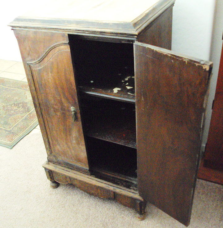 input needed for my awesome find, painted furniture, Add wine glass and bottle storage