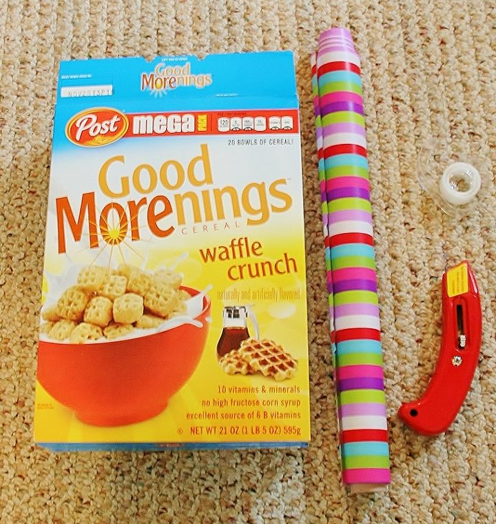 make magazine holder from a cereal box, crafts, repurposing upcycling