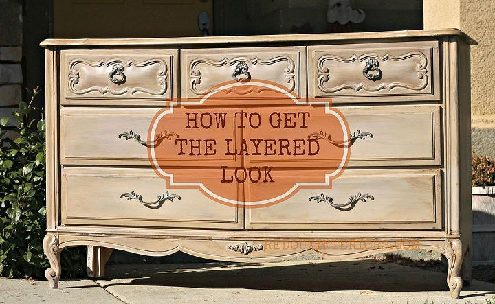 layering paints on furniture, painted furniture, Layer CeCe Caldwell s Virginia Chestnut Young Kansas Wheat and tinted glaze and you can get this look in a very short time