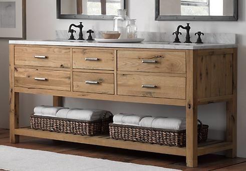 Reclaimed Wood Bathroom Vanity Hometalk - Real wood bathroom vanity