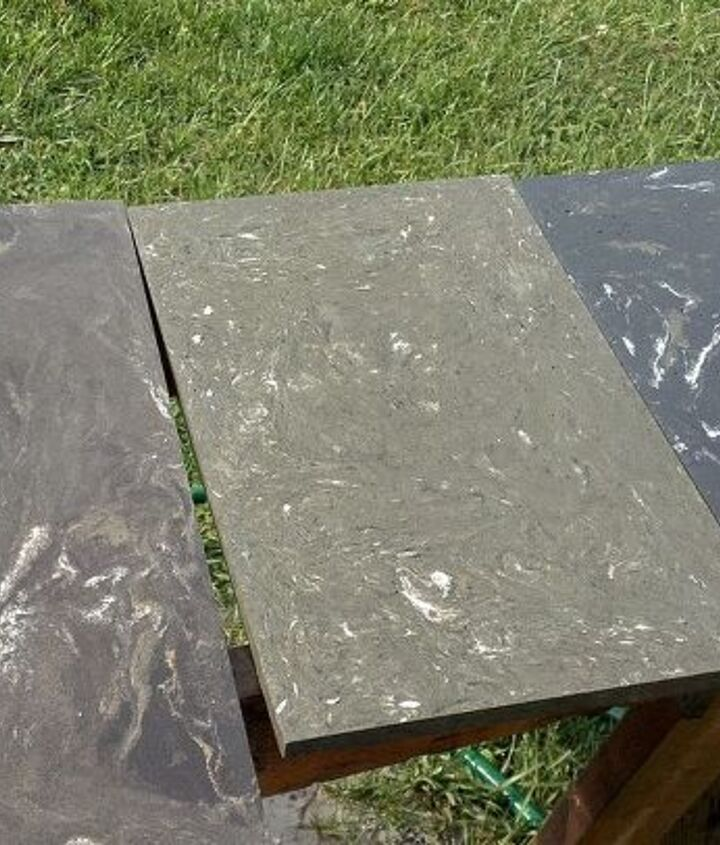 check out these samples no stain yea or nea, concrete masonry, tiling