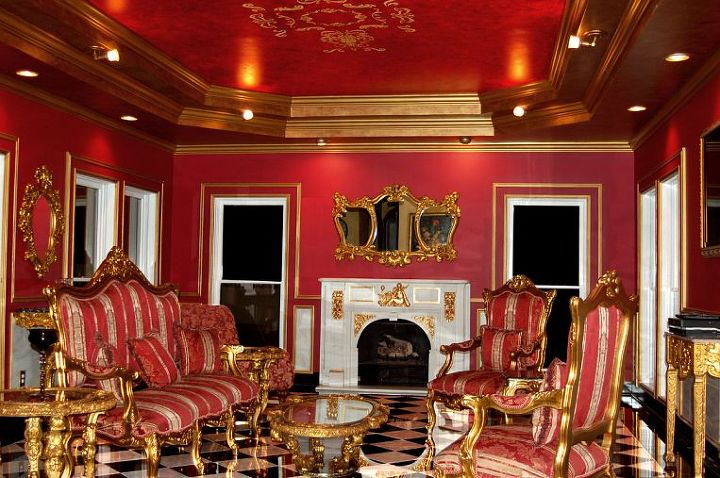"""A nice view of the """"French Empire Salon"""" at Fontainebleau!"""