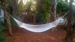 q can anyone recommend a good hammock that can be left outside during the spring and, decks, outdoor furniture, painted furniture, My Twin Oaks hammock