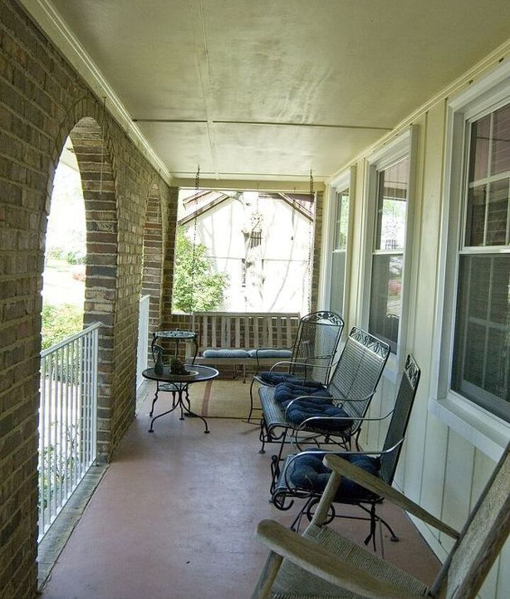 The faded porch that needed attention!