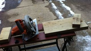q what are some tips or advice to get over the nervousness or intimidation of using a, tools, woodworking projects, My first two cuts with a circular saw I plan on inscribing the date and staining the piece of wood for histories sake