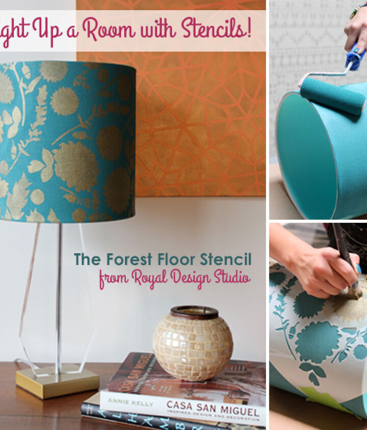 Stenciled Lampshade How To http://www.royaldesignstudio.com/blogs/how-to-stencil/10604681-stencil-how-to-stenciling-a-lampshade